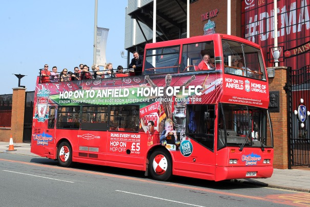 LFC and City Bus Liverpool City Centre