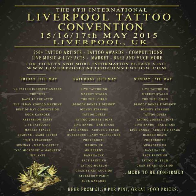 Liverpool Tattoo Convention Line Up 2015