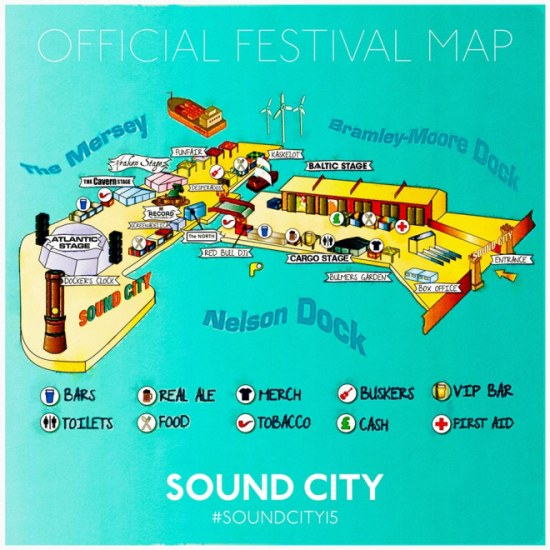 Sound City Site Map 2015