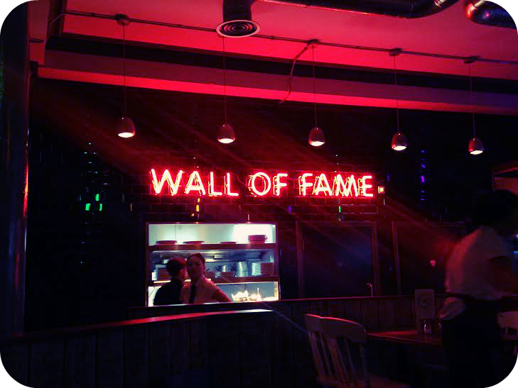 Wall of fame Liverpool sign